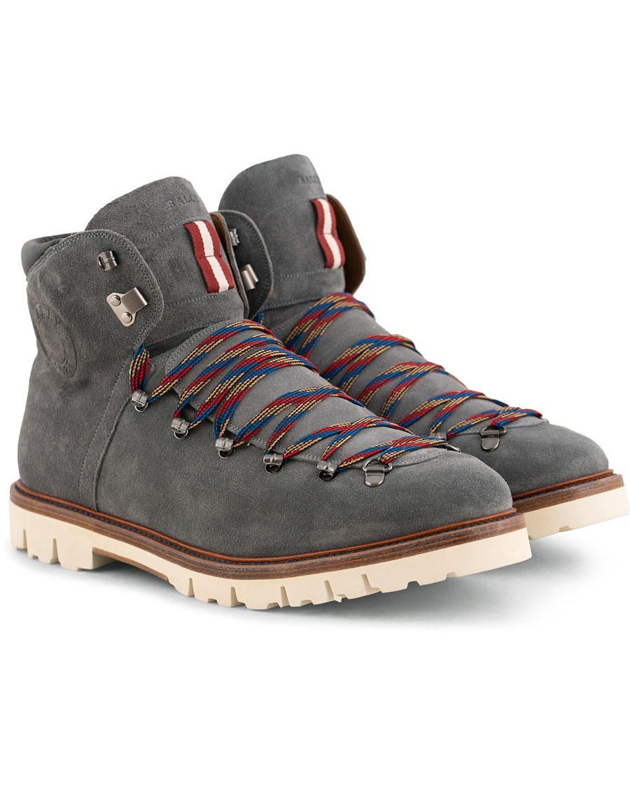 a9d9f32edd4 Bally Chamonix Chack Hiking Boot Grey Suede hos CareOfCarl.com