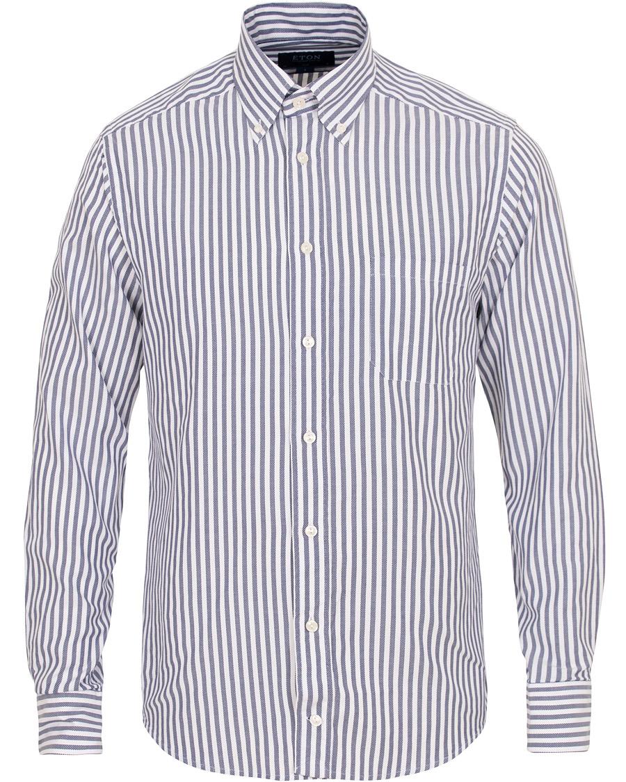 Eton Slim Fit Oxford Stripe Button Down Shirt White Blue i gruppen Kläder    Skjortor d0465c84a2e4f