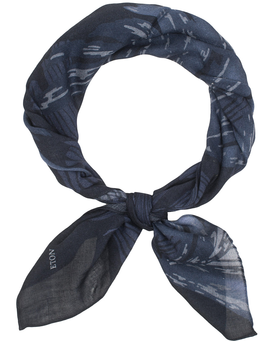 Eton Wool Printed Bandana Navy i gruppen Accessoarer   Scarves hos Care of  Carl (15013410 3e92422964dac