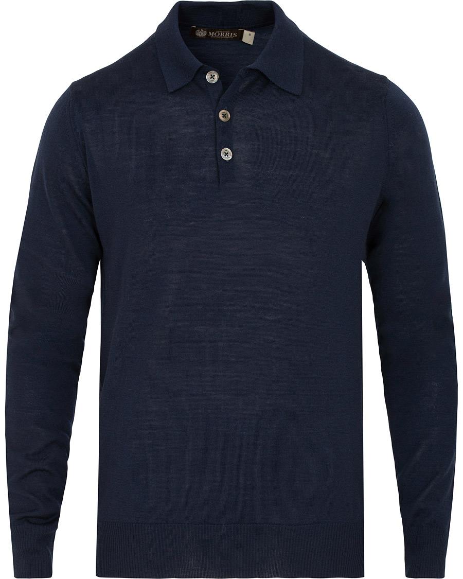 Morris Heritage Knitted Poloshirt Navy hos