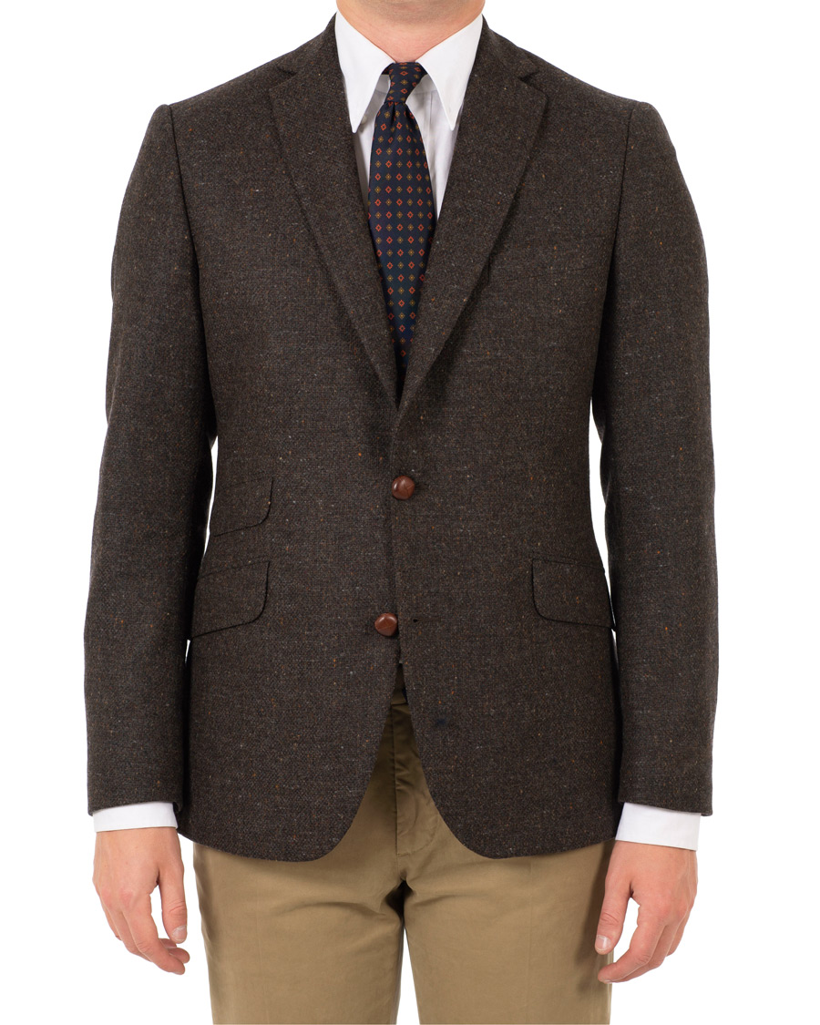 Morris Harris Tweed Donegal Blazer Brown hos CareOfCarl.com 9099d8d6a573e