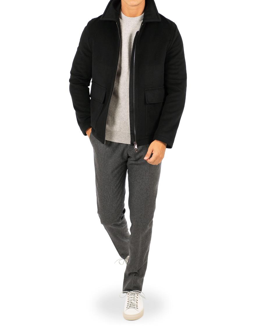 Oscar Jacobson Memphis WoolCashmere Jacket Black hos