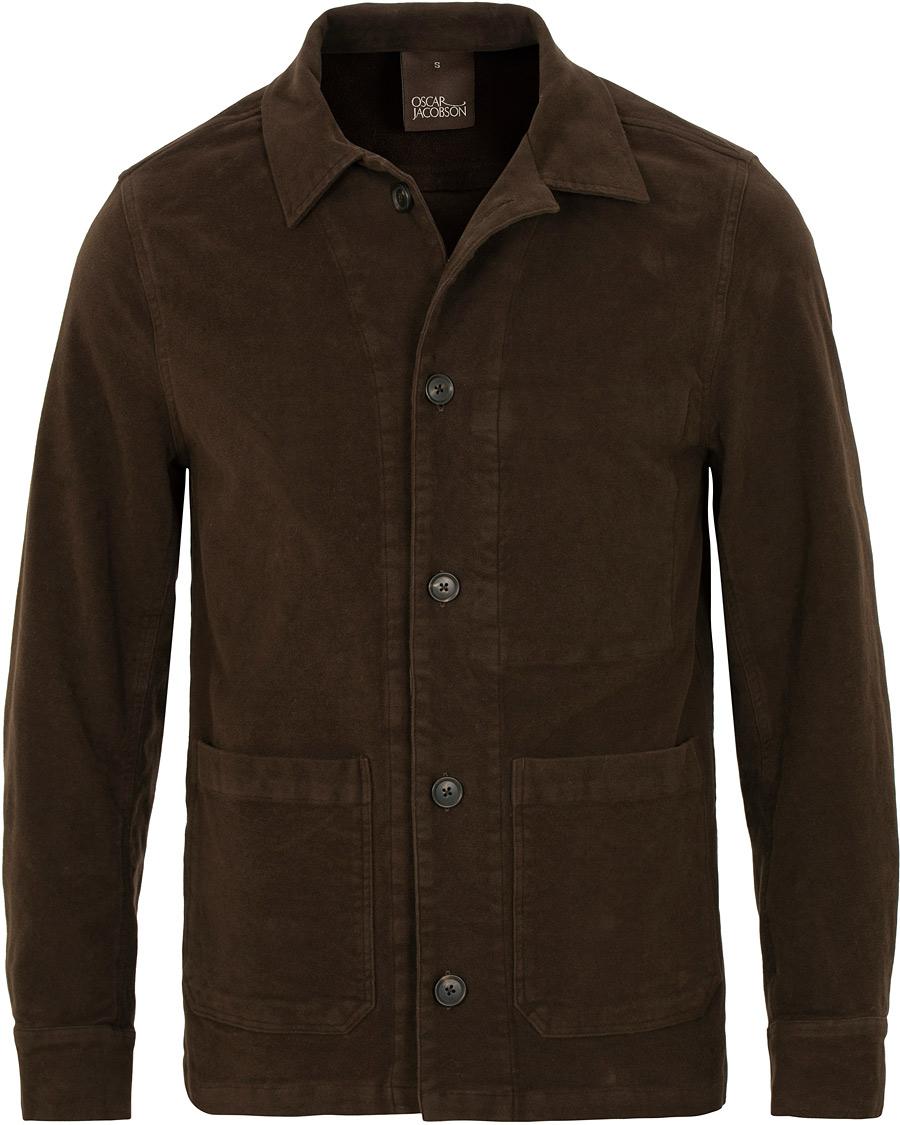 d7533bb04b Oscar Jacobson Hannes Moleskin Shirt Jacket Brown hos CareOfCarl.