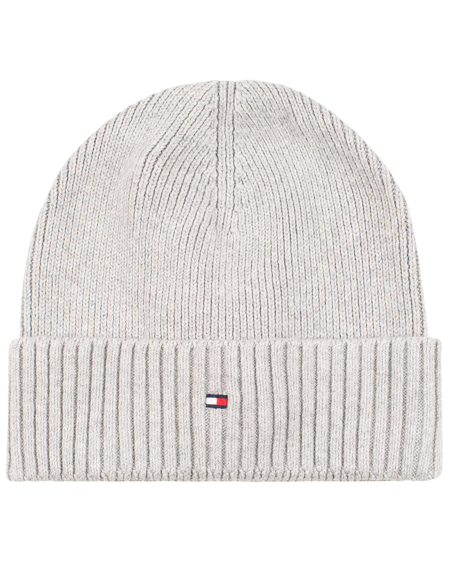 Tommy Hilfiger Cotton Cashmere Beanie Light Grey Heather hos Car 75fd73e195