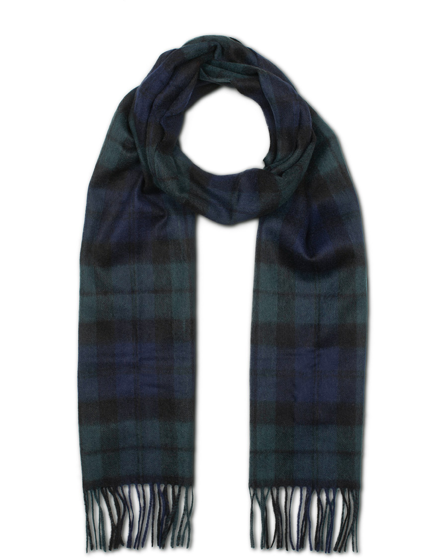 95348a157d6 Barbour Lifestyle New Check Tartan Lambswool Cashmere Scarf Black Watch
