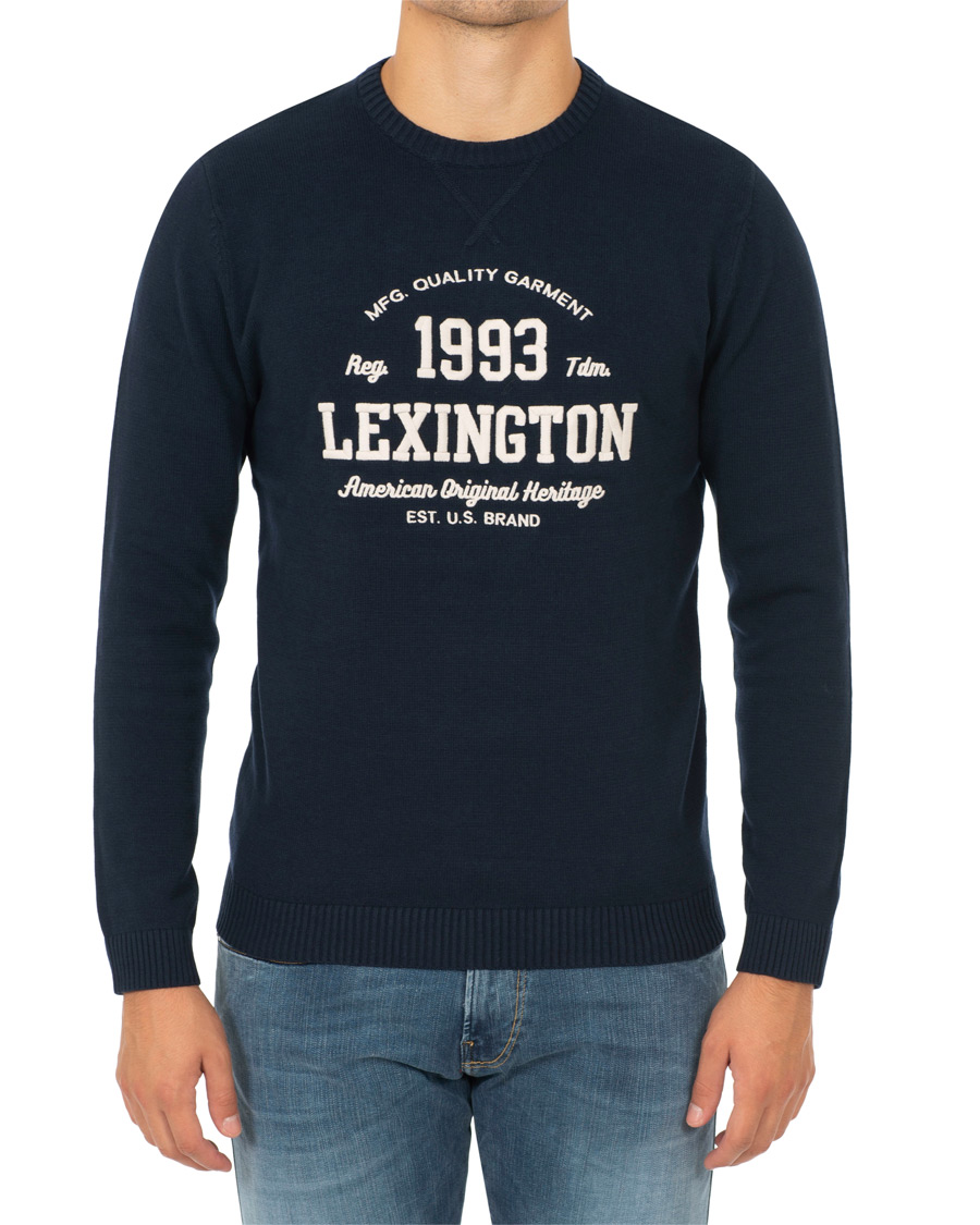 Lexington Nelson Knitted Sweatshirt Deepest Blue hos