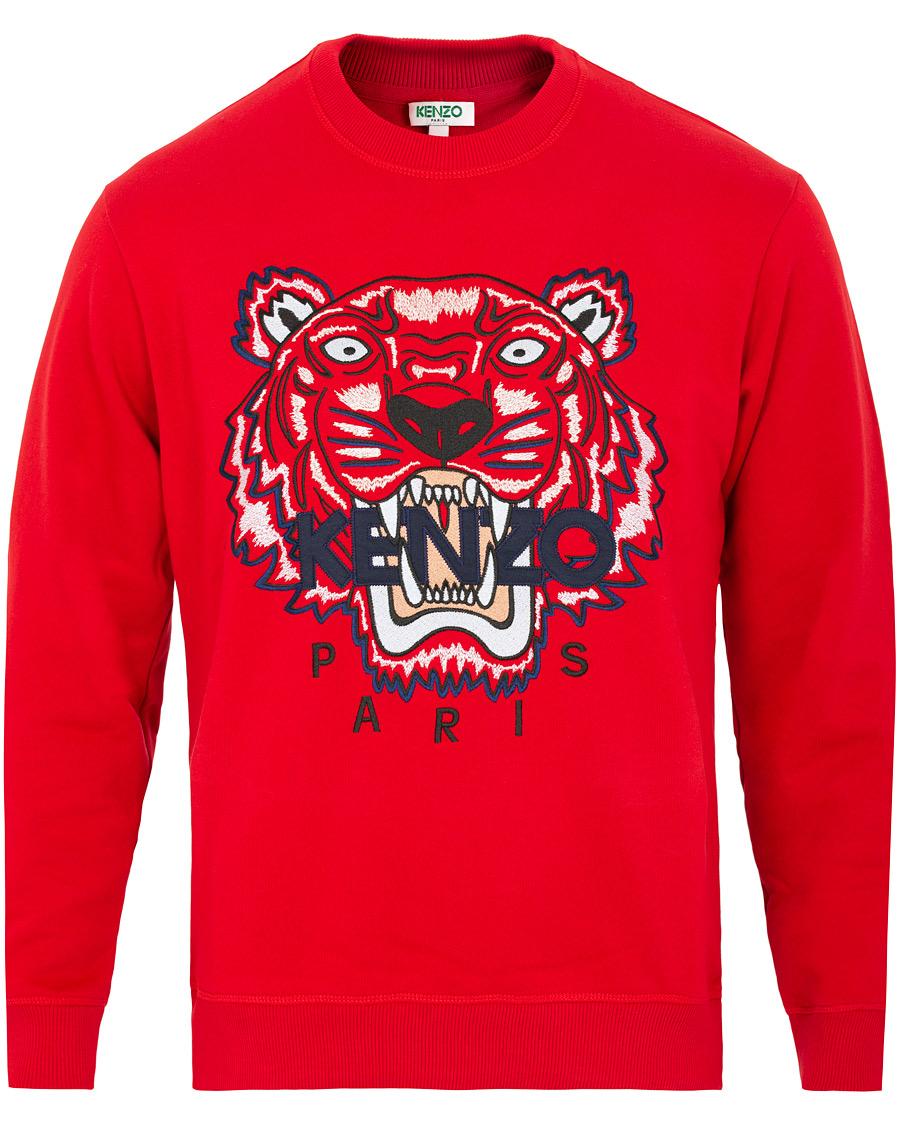 KENZO Tiger Classic Sweatshirt Red hos