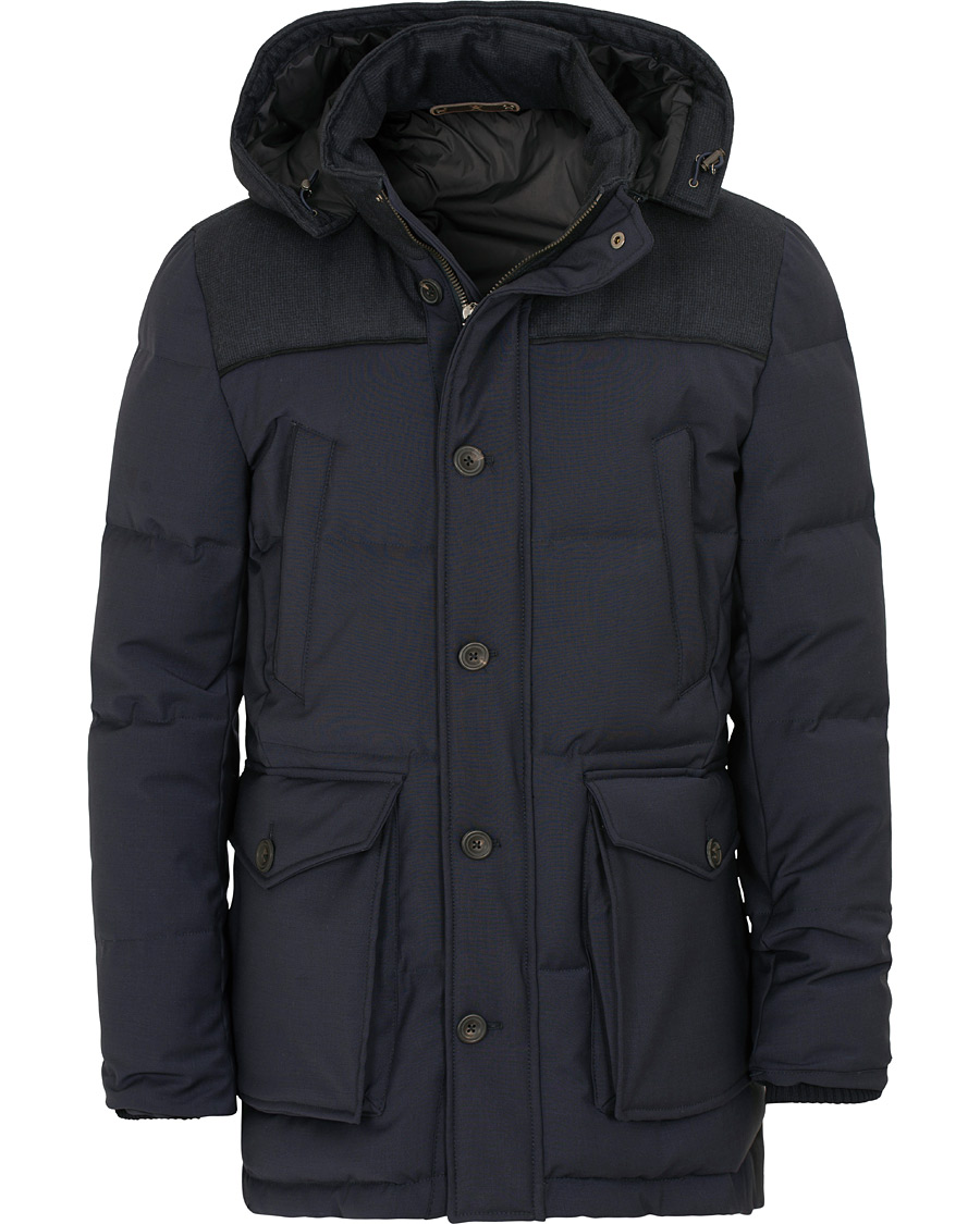 bca74135be6 Hackett Mayfair Down Parka Navy hos CareOfCarl.com