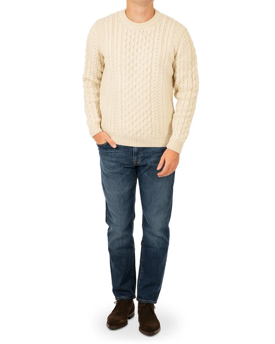 72a03bdecec040 Sunspel Fisherman Sweater Archive White hos CareOfCarl.com