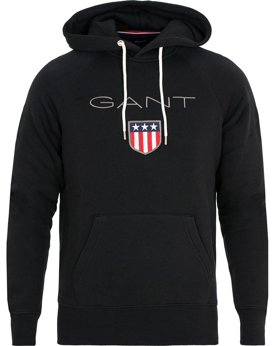 1a89ceec5e0 GANT Shield Hoodie Black hos CareOfCarl.com