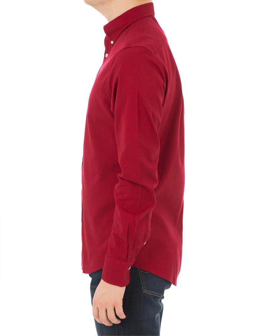 GANT Slim Fit Brushed Oxford Shirt Winter Wine hos CareOfCarl.com 6384987bf33a2