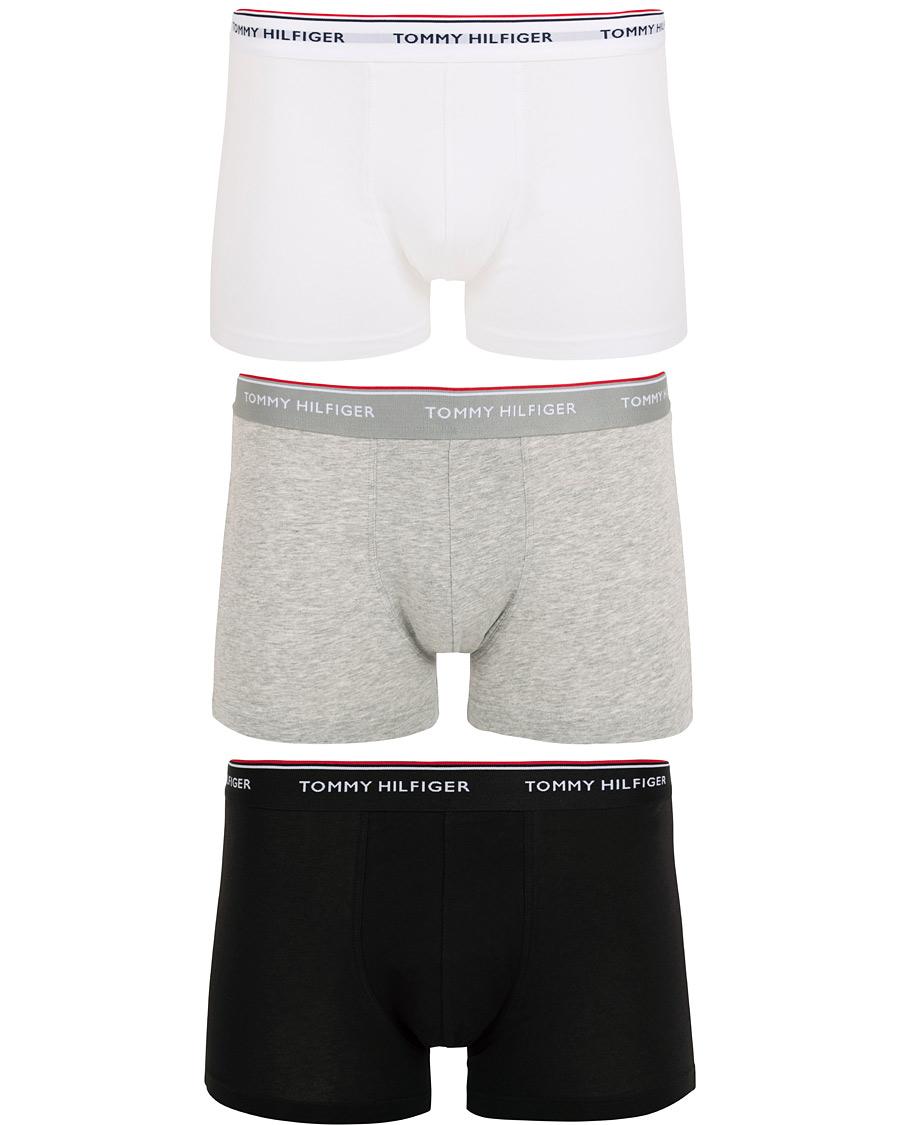 fe0174686910bc Tommy Hilfiger Stretch Trunk 3 Pack Premium Essentials Grey White Black