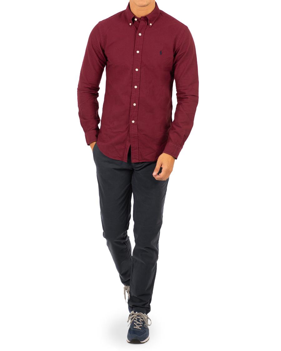 Polo Ralph Lauren Slim Fit Garment Dyed Oxford Shirt Classic Wine 25c048a6440d3