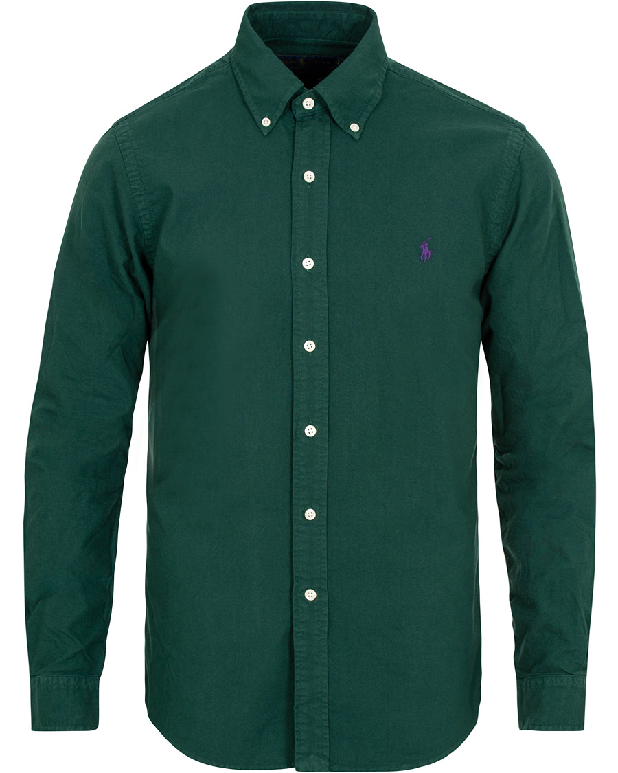 82ea9af9e Polo Ralph Lauren Slim Fit Garment Dyed Oxford Shirt College Gree