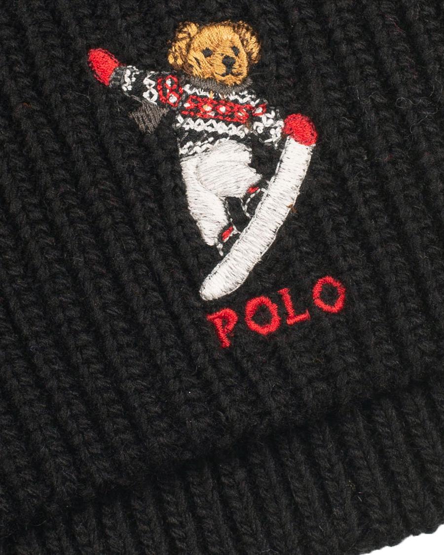 Polo Ralph Lauren Snowboard Bear Beanie Black hos CareOfCarl.com a62e1313646a
