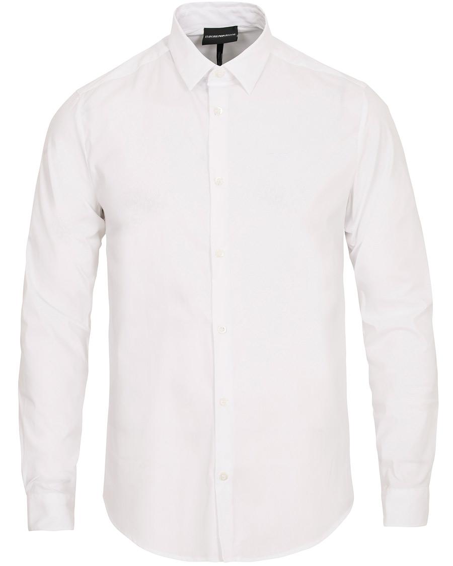 Emporio Armani Casual Slim Fit Shirt White hos CareOfCarl.com d2629514639b5