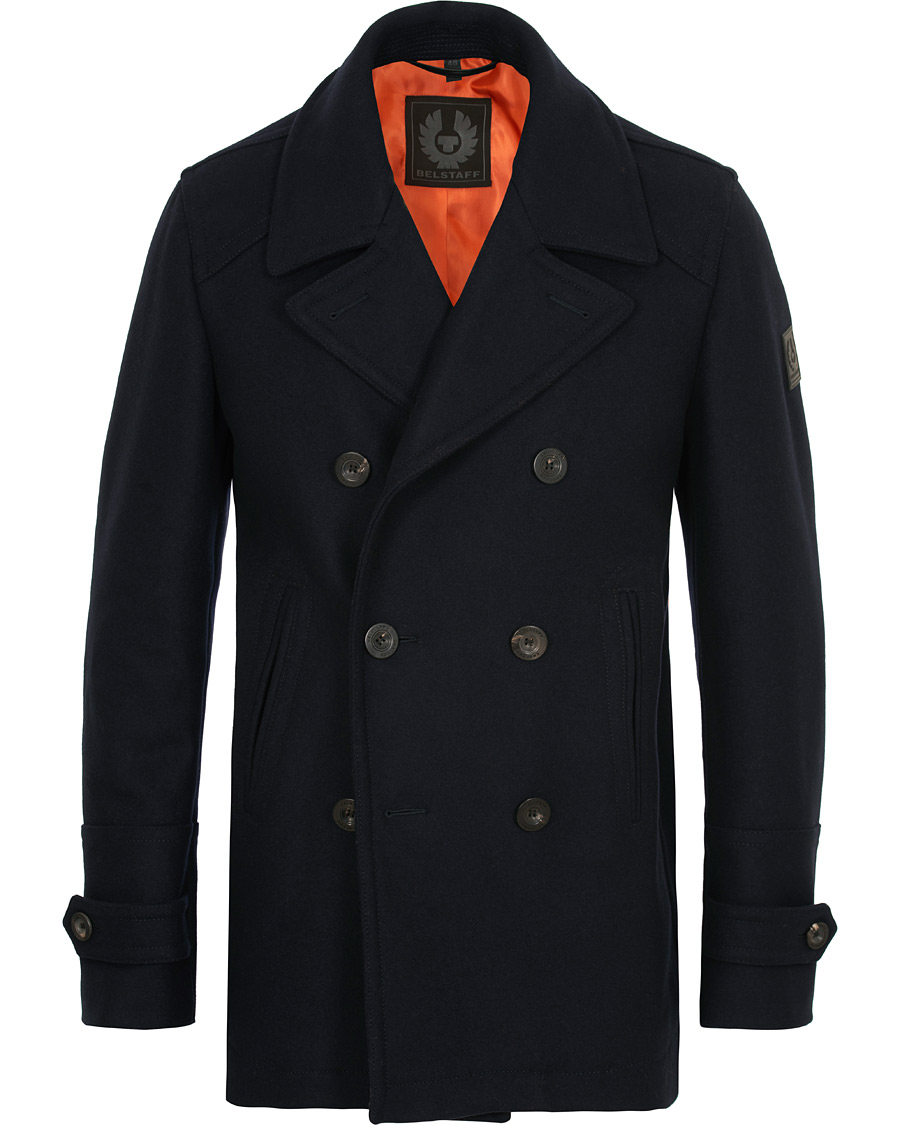 fashion design new lifestyle great deals Belstaff Durdan Wool Peacoat Ink Blue