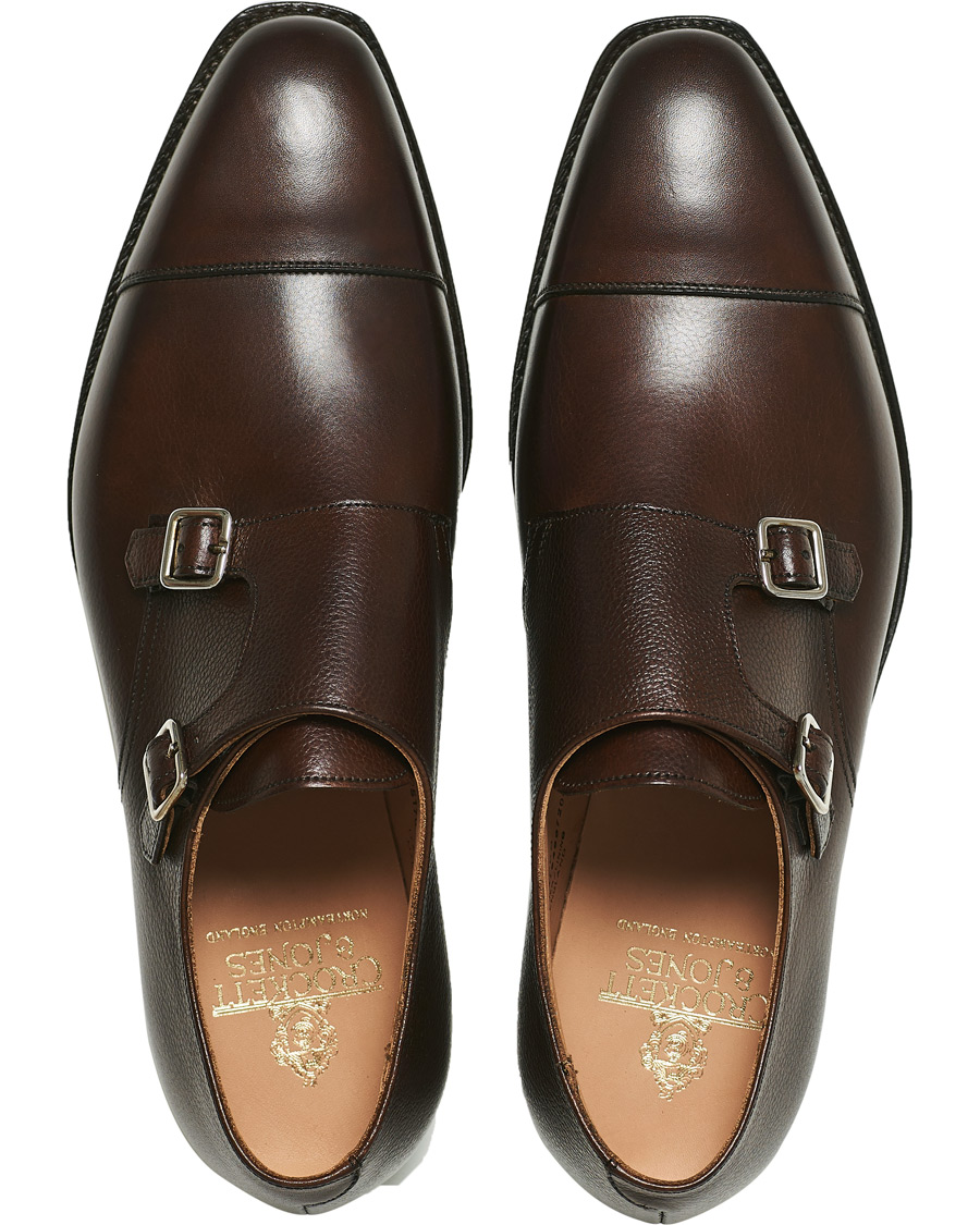 a6a0cd79 Crockett & Jones Lowndes Monkstrap City Sole Dark Brown Calf hos