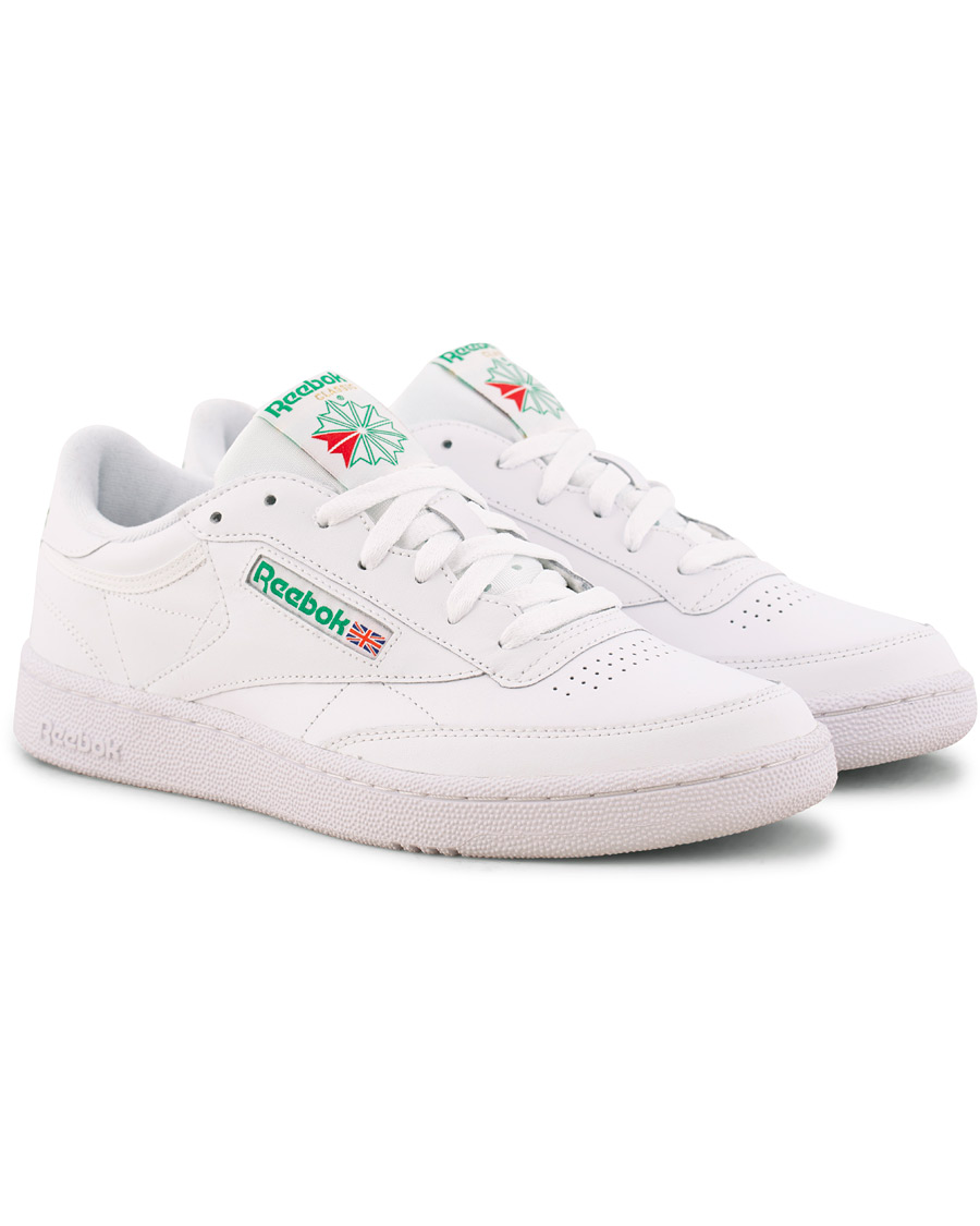 d137ddda342a2 Reebok Club C85 Sneaker White Green hos CareOfCarl.com