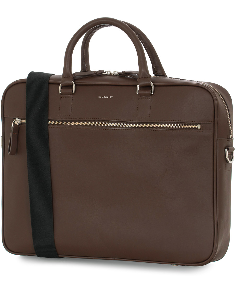 Sandqvist Dag Leather Briefcase Dark Brown