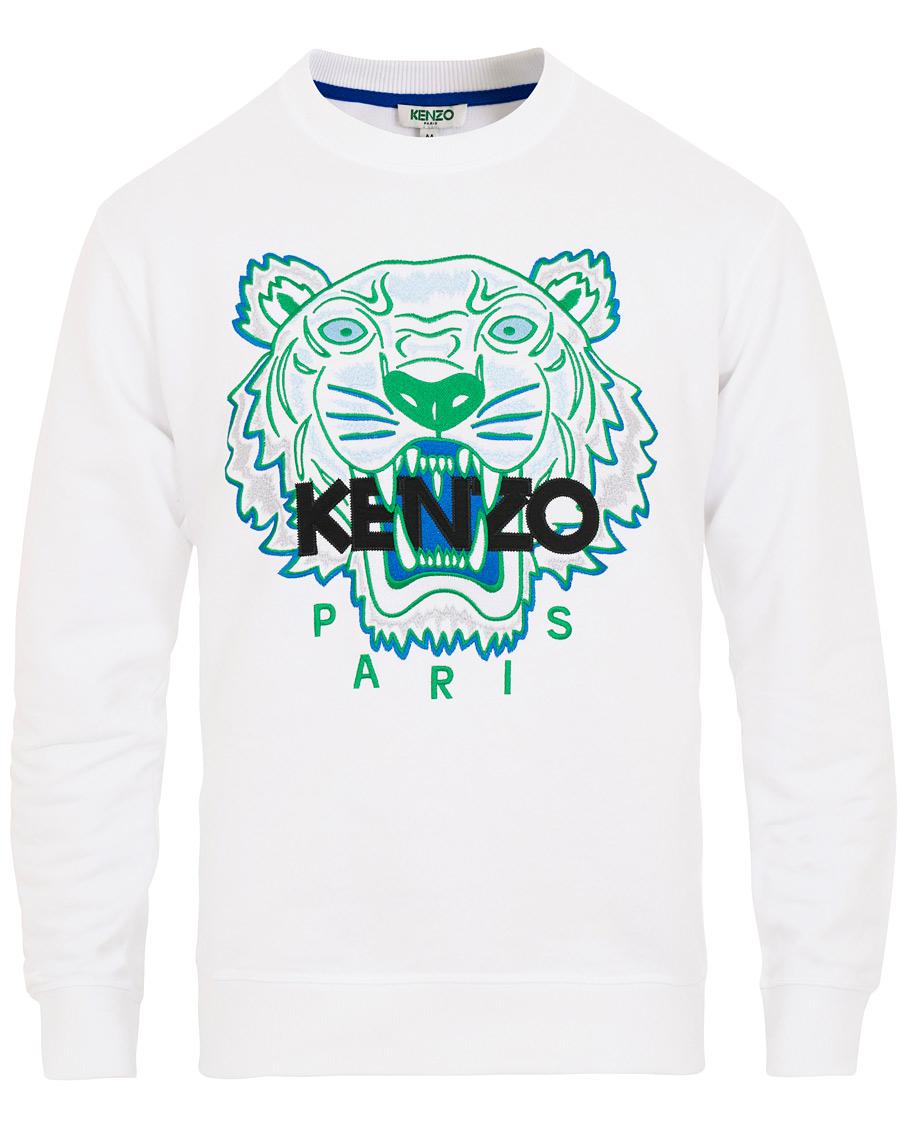 Kenzo Tiger Classic Sweatshirt White hos