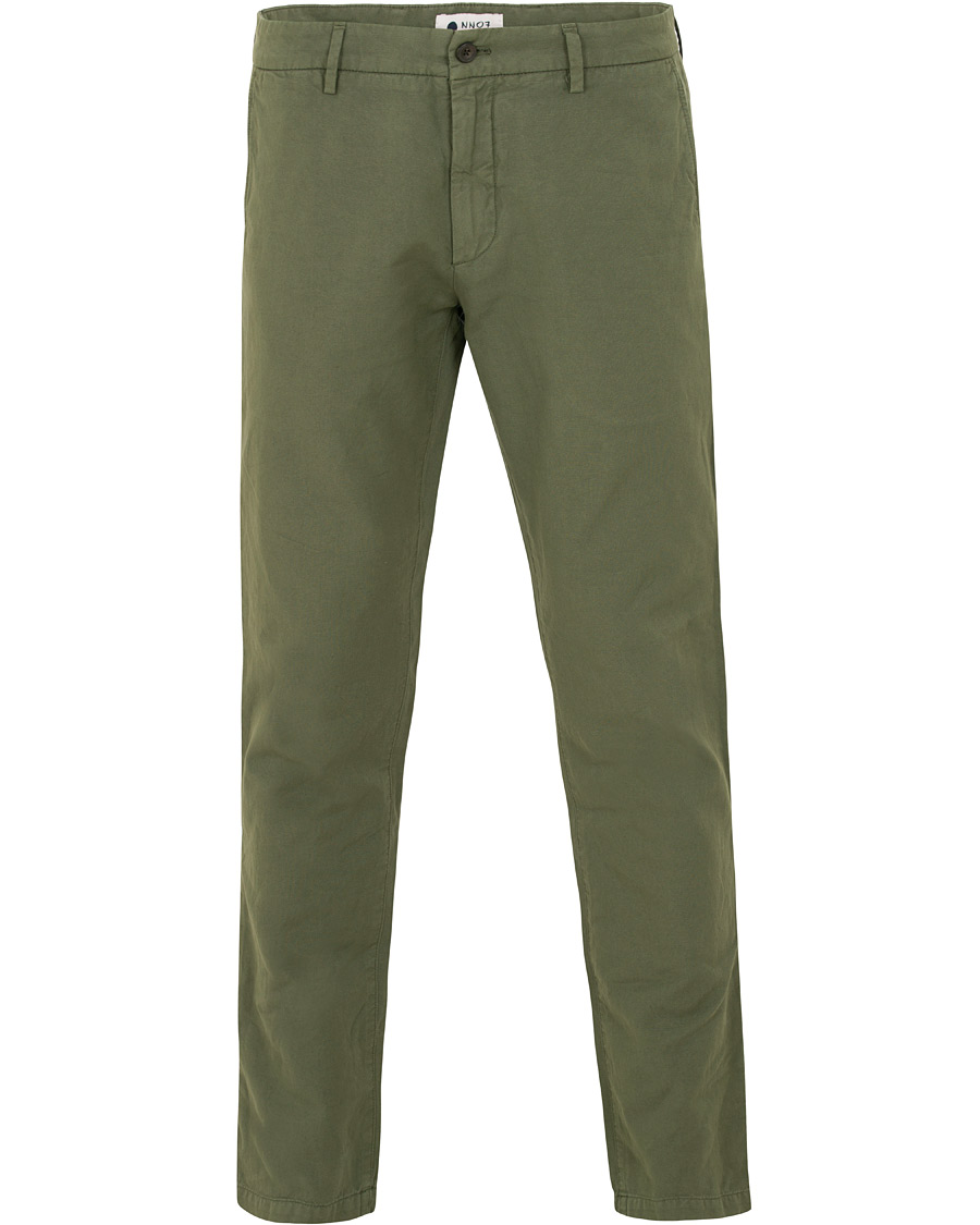 NN07 Karl Cotton Linen Trousers Moss Green hos CareOfCarl.com 5d0bf5c860f6b