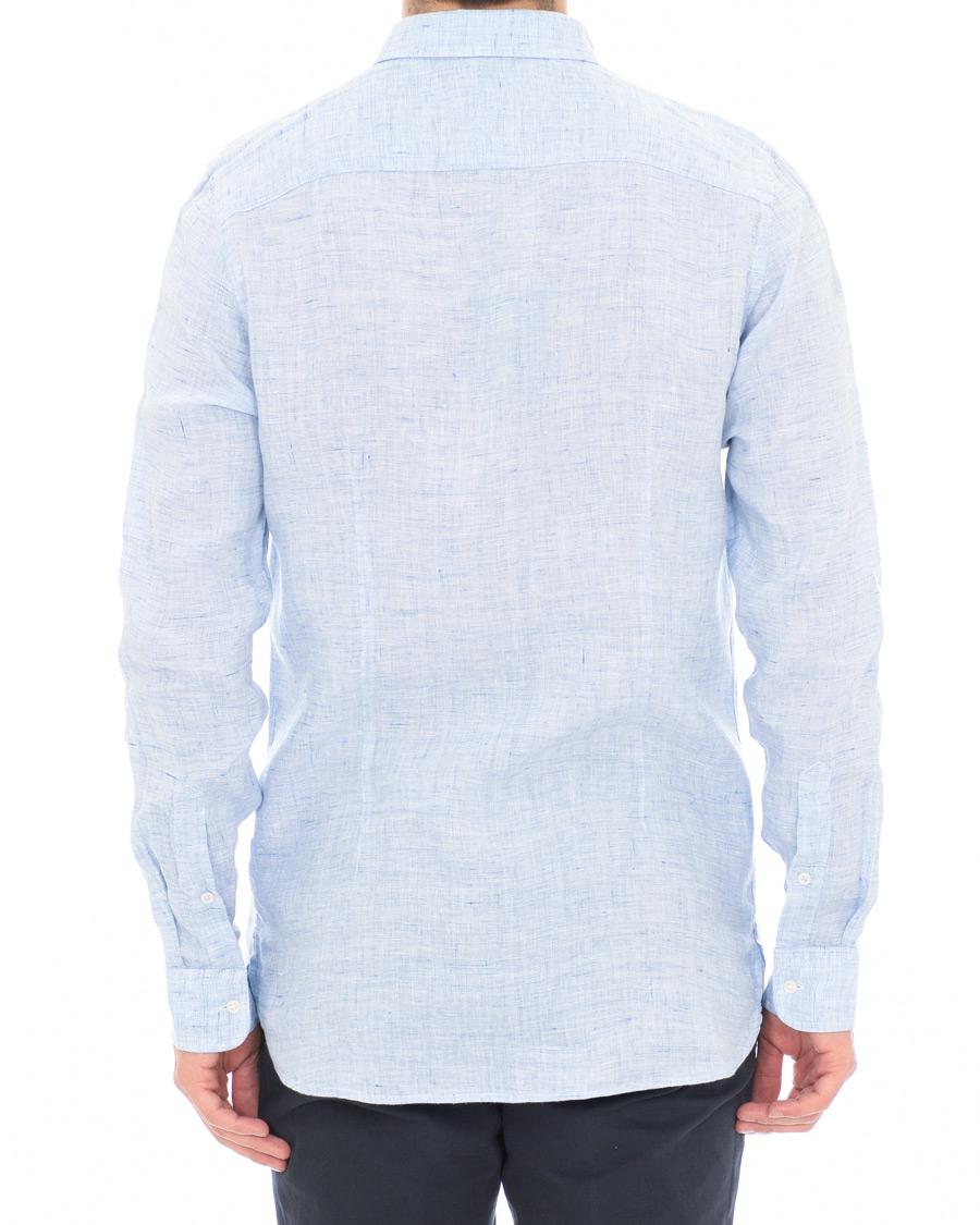 f56148983 Tommy Hilfiger Slim Fit Melange Linen Shirt Blue Quartz hos CareO