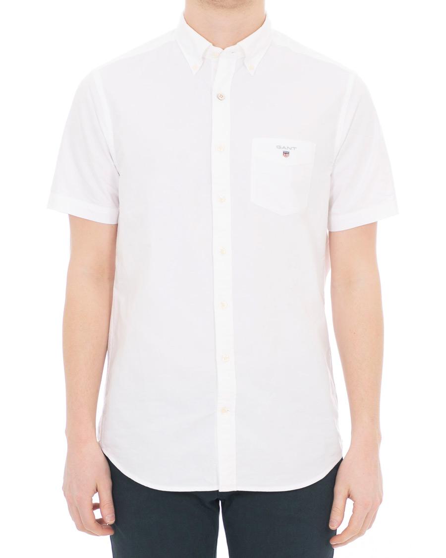 e97399434 GANT Regular Fit Oxford Short Sleeve Shirt White S