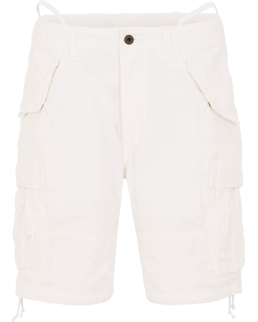 145e349ff Polo Ralph Lauren Washed Cargo Shorts White hos CareOfCarl.com
