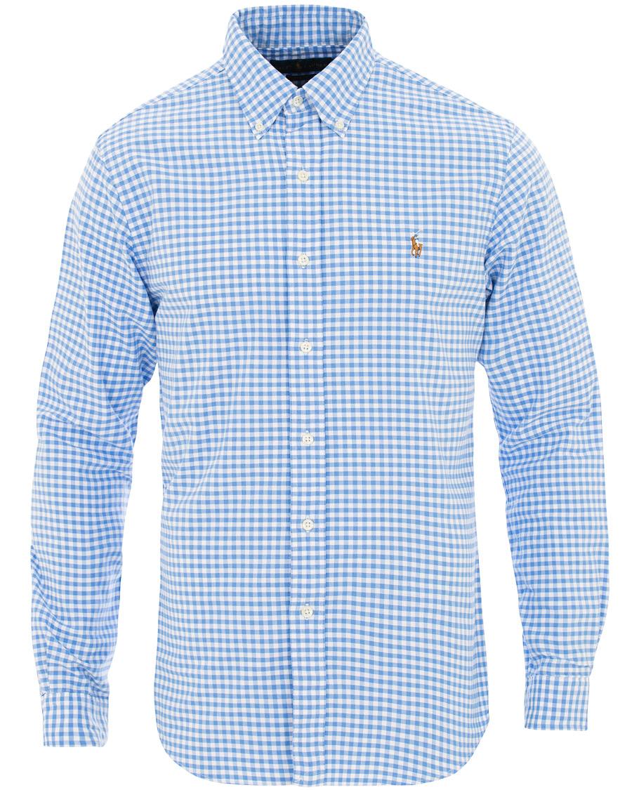0465b1d3f Polo Ralph Lauren Slim Fit Gingham Shirt Cabana Blue hos CareOfCa