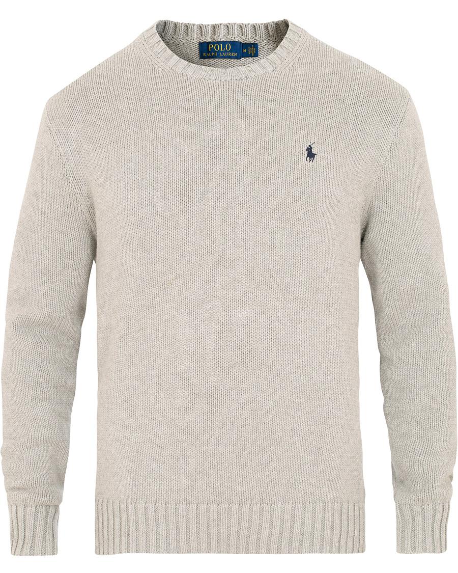 Polo Ralph Lauren Cotton Crew Neck Pullover Andover Grey S