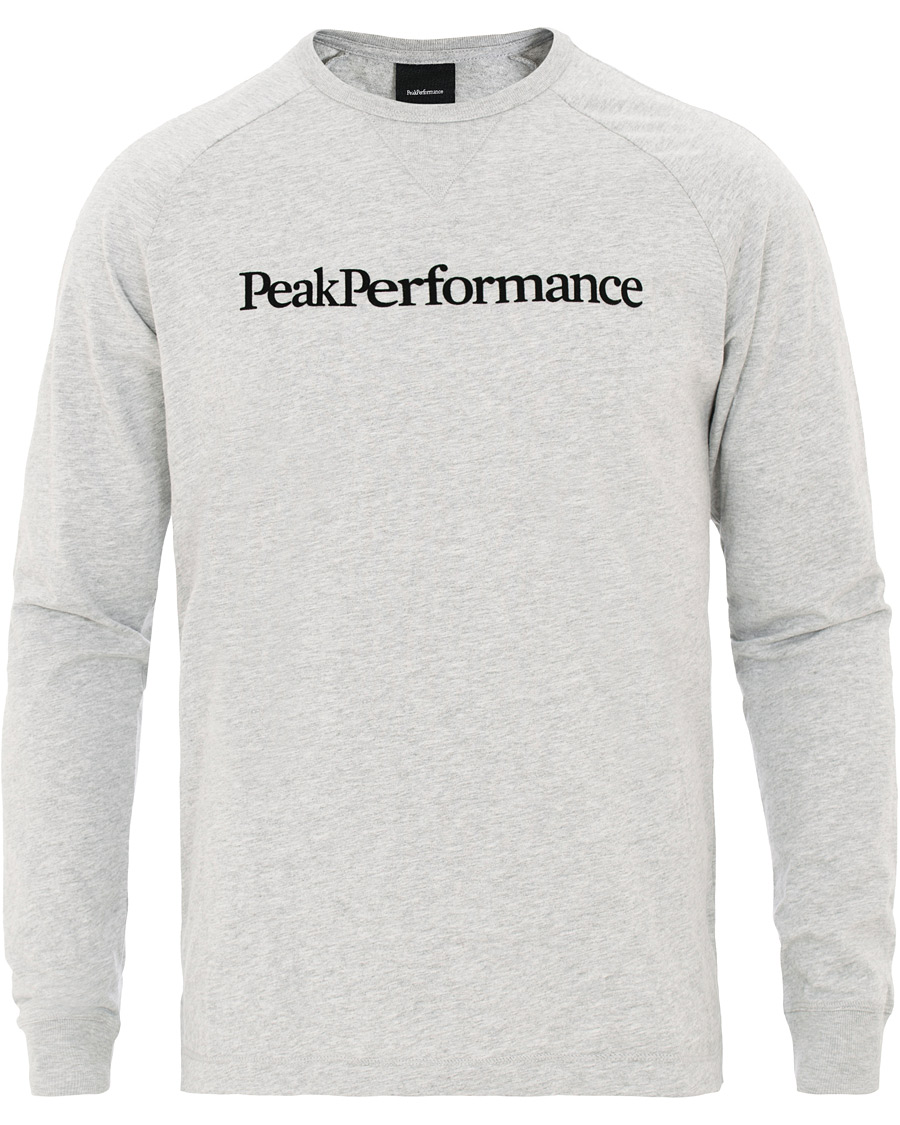Peak Performance Walt Long Sleeve Tee Medium Grey Melange XL