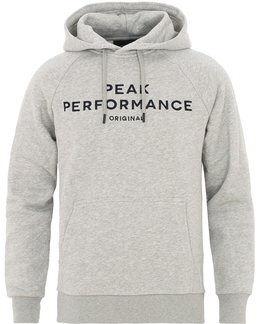 781e470e Peak Performance M Logo Hoodie Grey hos CareOfCarl.com