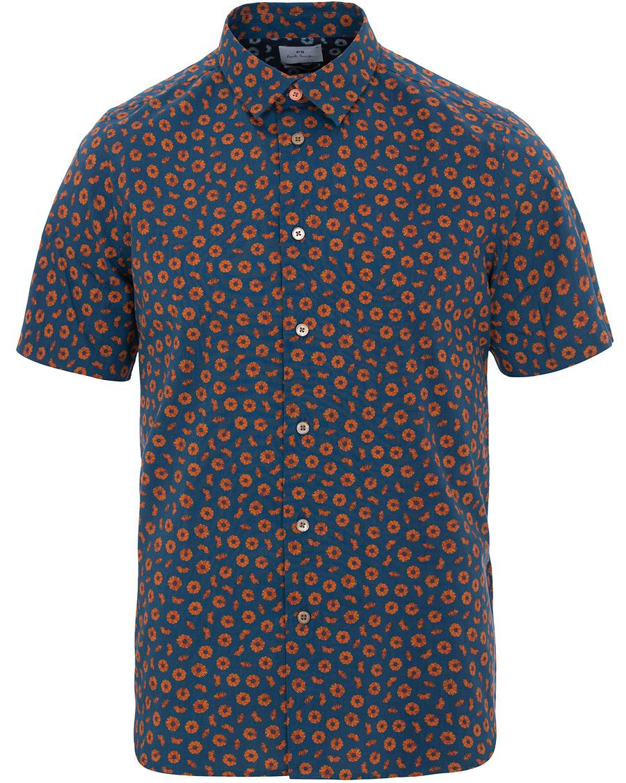 PS by Paul Smith Printed Short Sleeve Shirt Dark Blue hos CareOfC 1c40c636b23a9