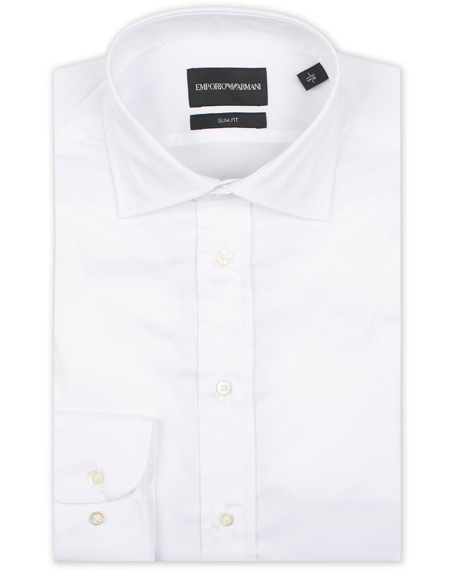 Emporio Armani Slim Fit Shirt White hos CareOfCarl.com 0cf1ca969ecae