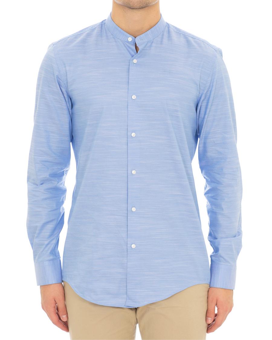 a490bc2fb BOSS Jordi Slim Fit Grandad Collar Shirt Light Blue hos CareOfCar