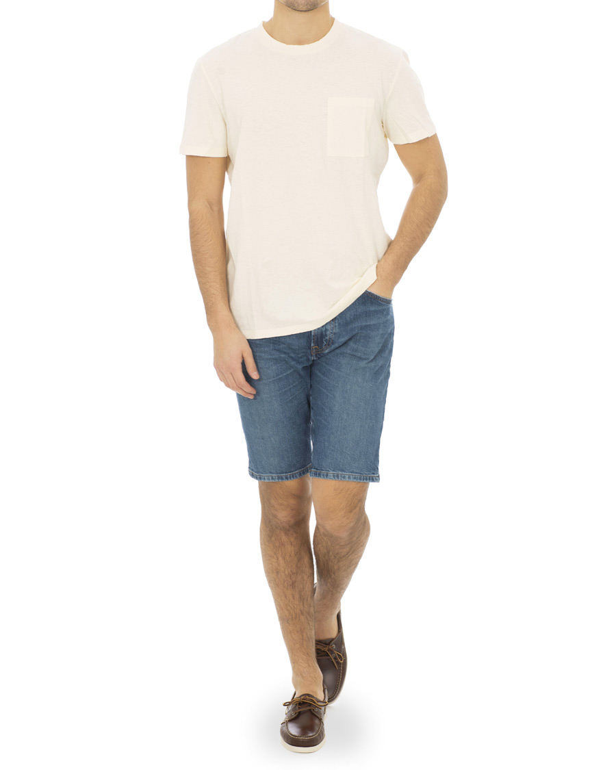 2c7f01e4e BOSS Casual Maine Denim Shorts Mid Wash hos CareOfCarl.com