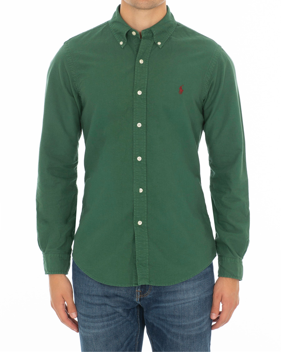 19036ec99 Polo Ralph Lauren Slim Fit Garment Dyed Oxford Shirt Green hos Ca