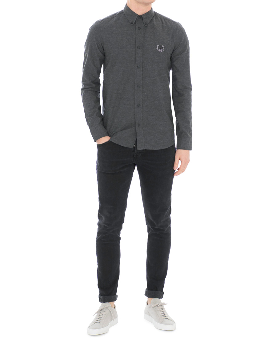 c3f0099c KENZO Slim Fit Urban Flannel Shirt Grey hos CareOfCarl.com