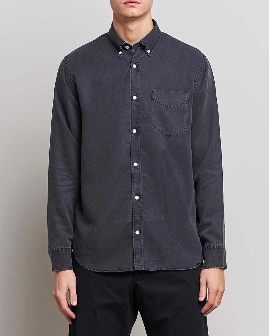 NN07 Levon Tencel Denim Shirt Black S