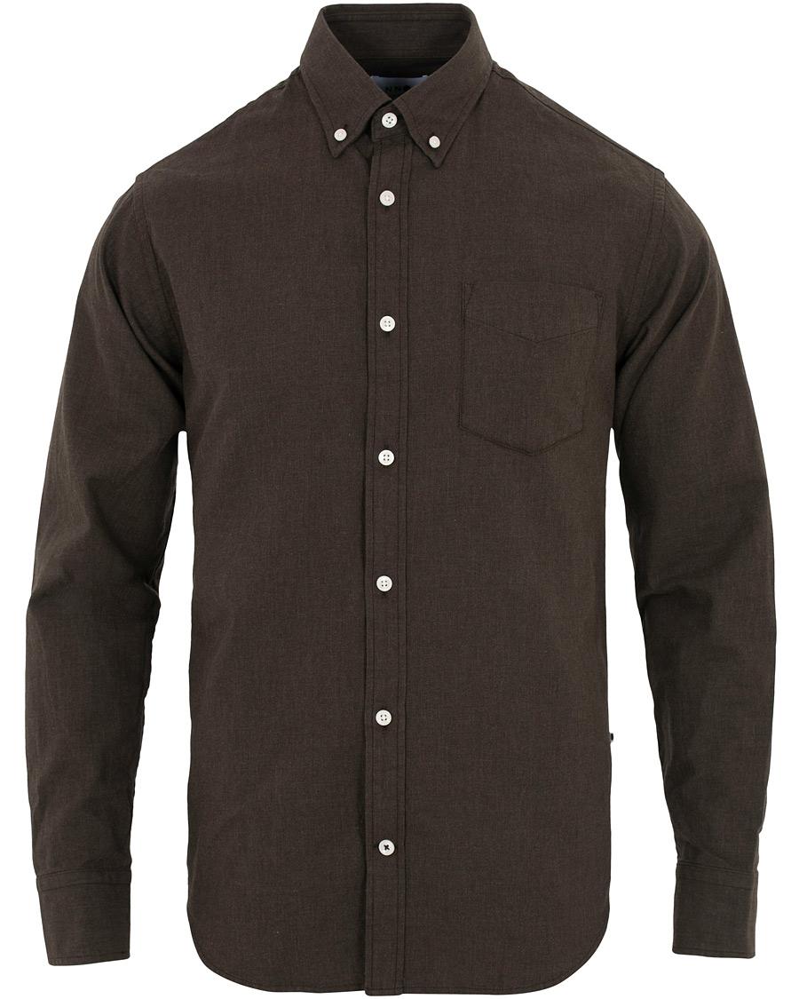 NN07 Levon Button Down Flannel Shirt Desert