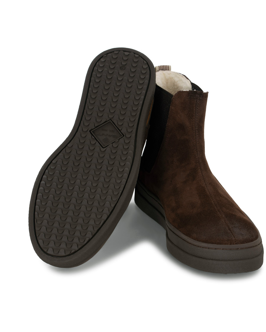 GANT Creek Chelsea Boot Dark Brown Suede hos