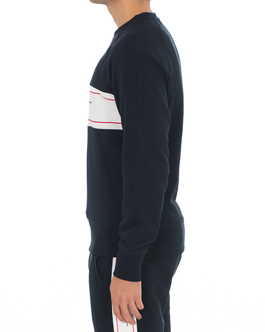 GANT Archive Crew Neck Sweatshirt Black hos