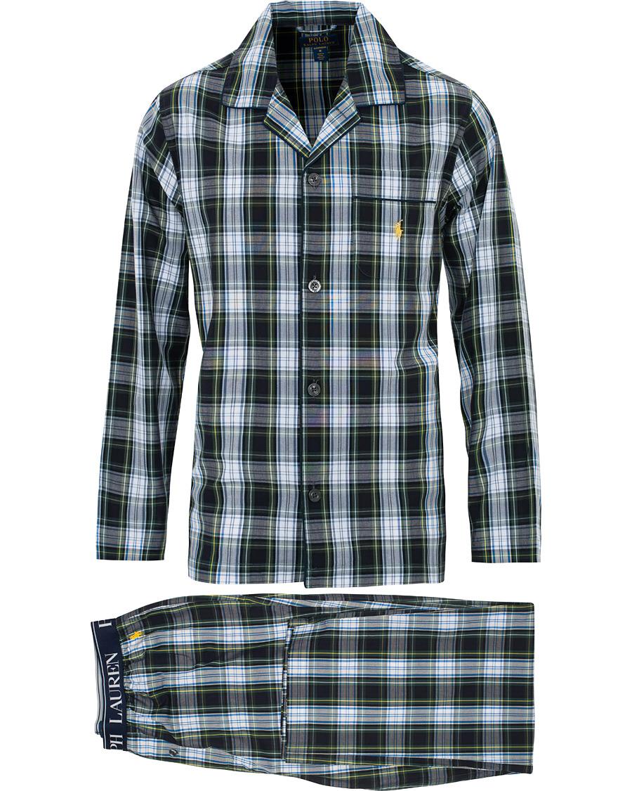 Set Ralph Polo Whitegreen Lauren Check Pyjama S srdCxhtQ