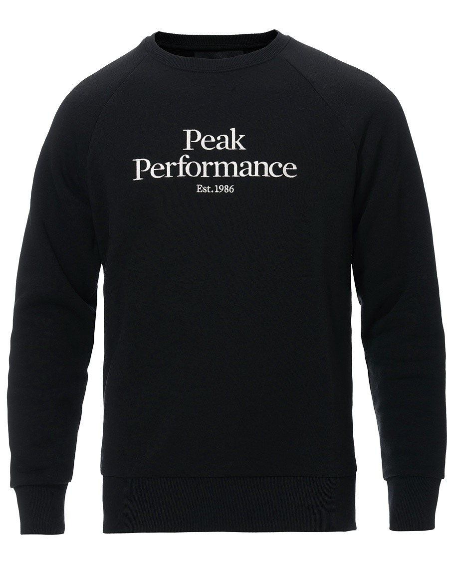 Peak Performance Original Logo Crew Neck Sweatshirt Black S
