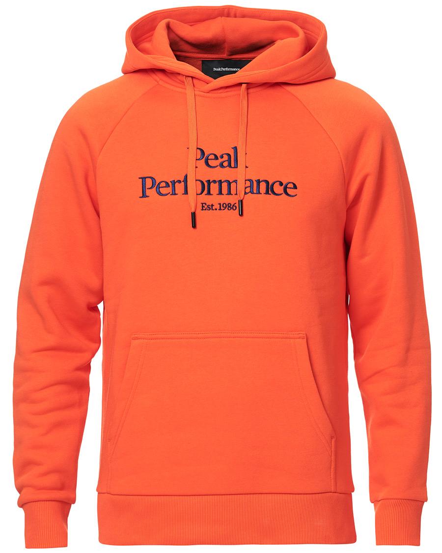 Peak Performance Original Logo Hoodie Orange hos