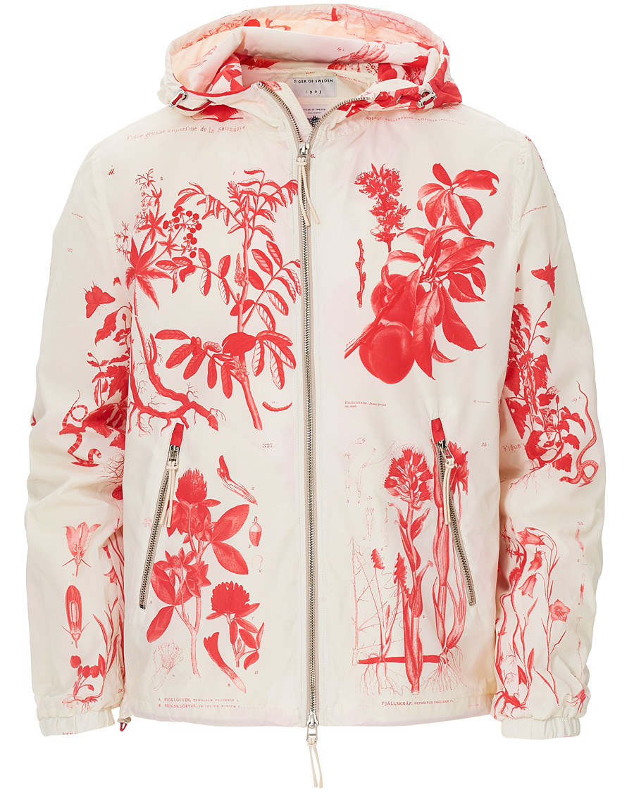 Tiger of Sweden Nemorosi Printed Hooded Jacket White hos