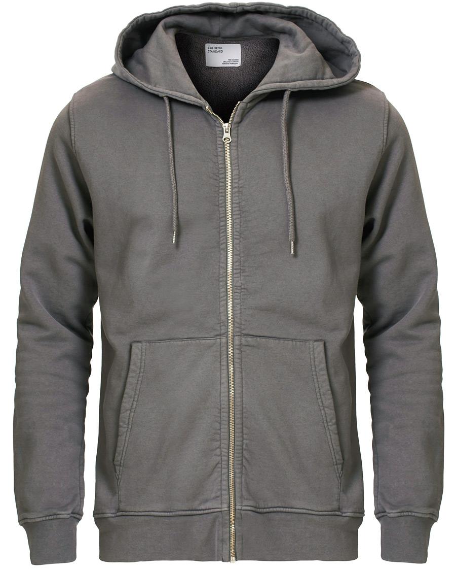 Colorful Standard Classic Organic Full Zip Hood Storm Grey XS