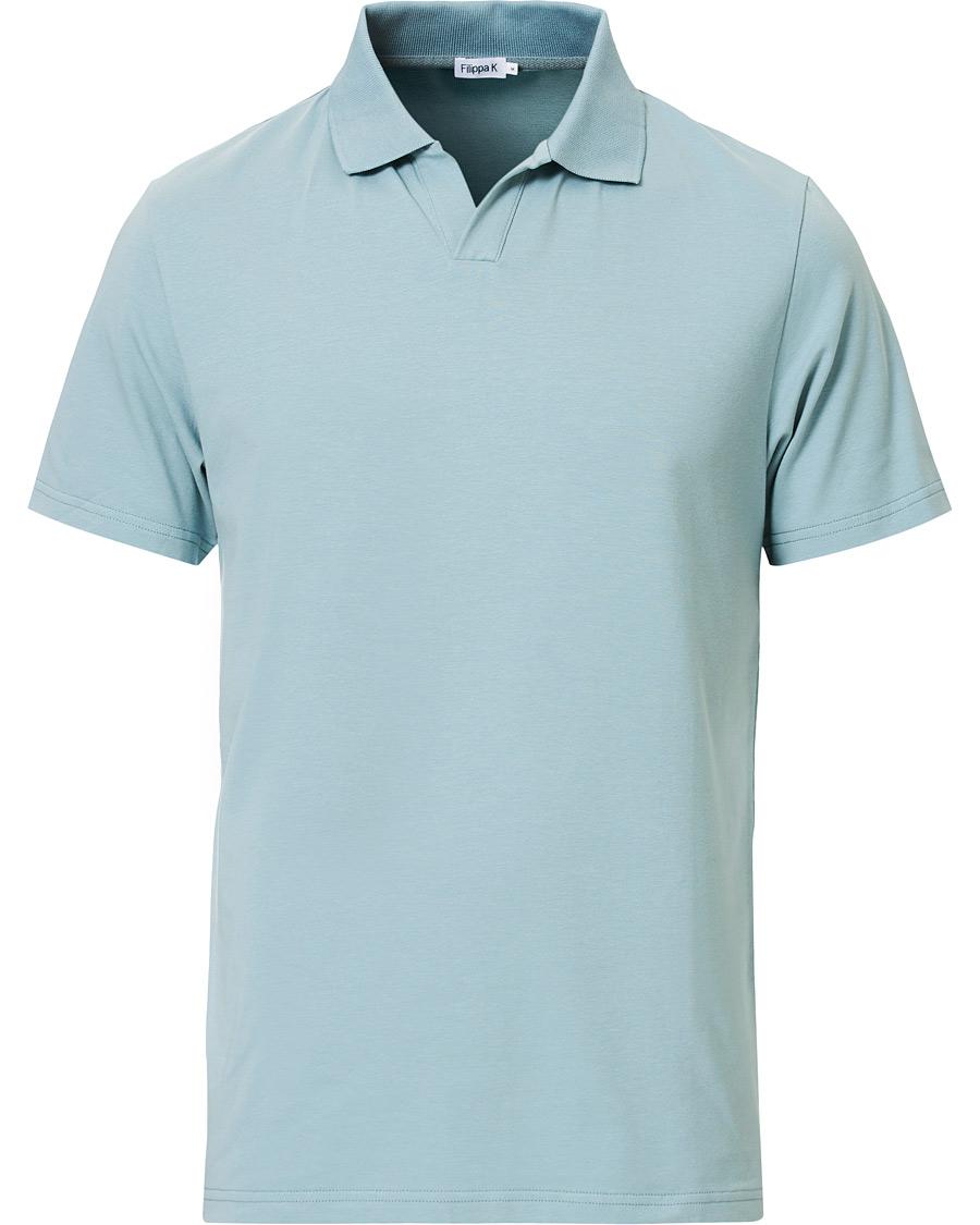 Filippa K Soft Lycra Polo T Shirt Mint Powder S