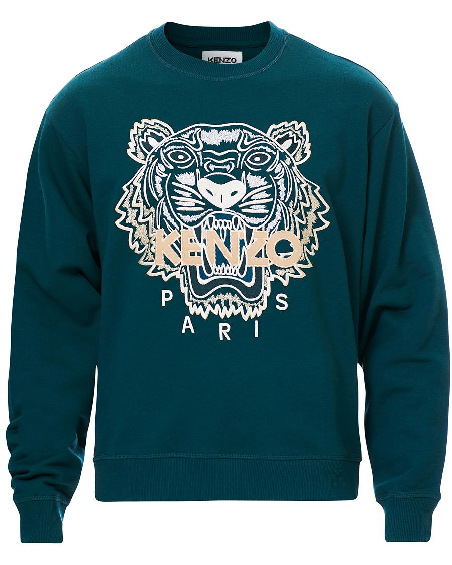 KENZO Icon Tiger Crew Neck Sweatshirt Green S